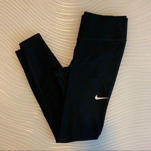 Nike black dri fit legging with swoosh detail